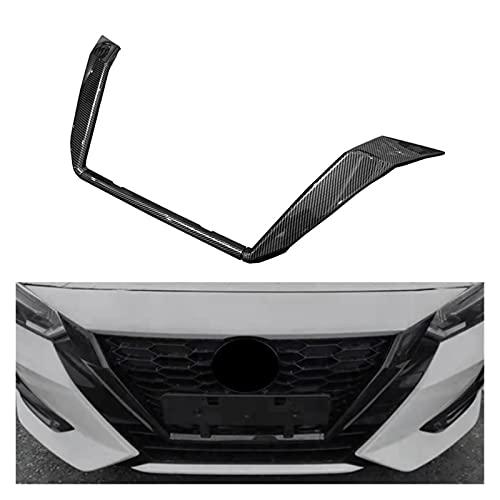 YAOXINGHUA Fit for Nissan Sentra Bluebird Sylphy Almera 2020 2021 Carbon Fiber Front Grille Grills Cover Trim Head Grills Strip (Color : Carbon Fiber Pattern)