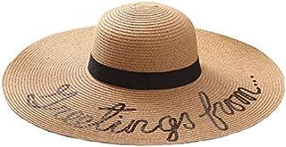 Hat Straw hat Women's Straw Hat Wide Brim Beach Cap Sun Hat for Women Girl UPF 50+ Sun hat Panama hat (Color : Brown, Size : 56-58cm) (Color : Brown, Size : 56-58cm)