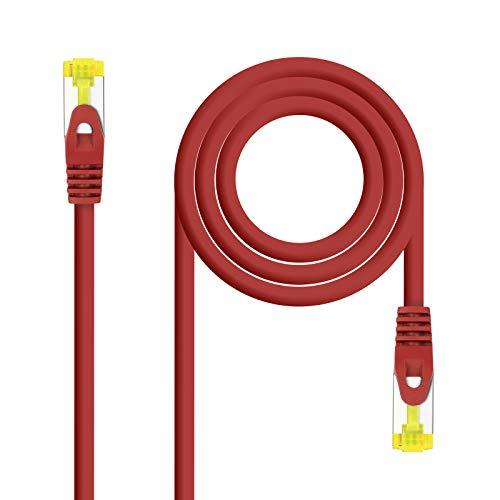 NanoCable 10.20.1901-R - Cable de Red Ethernet RJ45 LSZH Cat.6A SFTP, AWG26,...