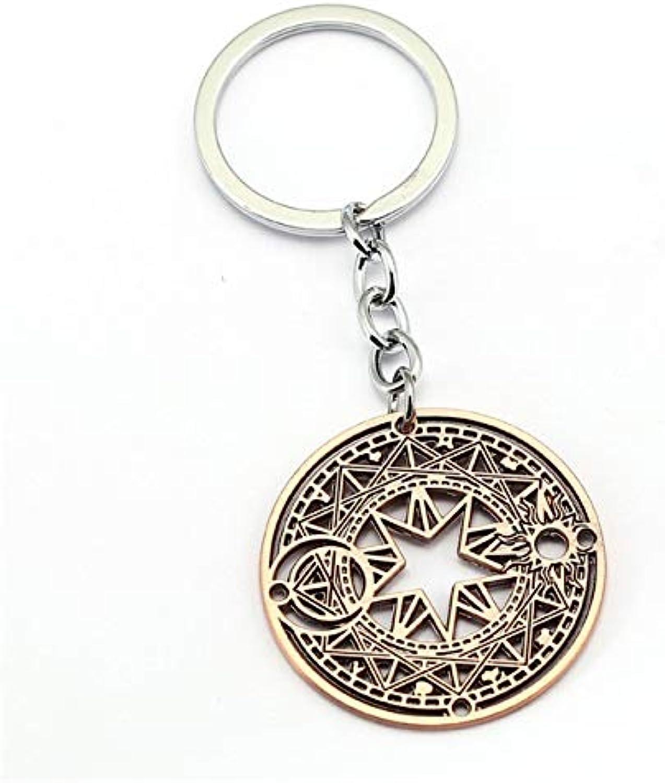 Value-Smart-Toys10PCS 3 colors Cardcaptor Sakura Key Ring Holder Gift Chaveiro Car Key Chain Pendant Anime Jewelry Souvenir HF12042
