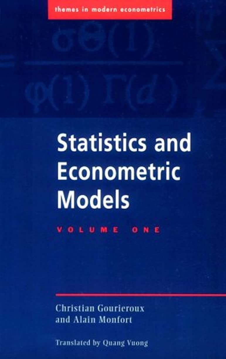 無許可横たわる転送Statistics & Econometric Models v1 (Themes in Modern Econometrics)