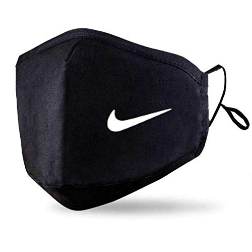 Black Face Mask With 2 Free PM2.5 Filters (Washable Durable & Reusable) Custom Nike Face Cover
