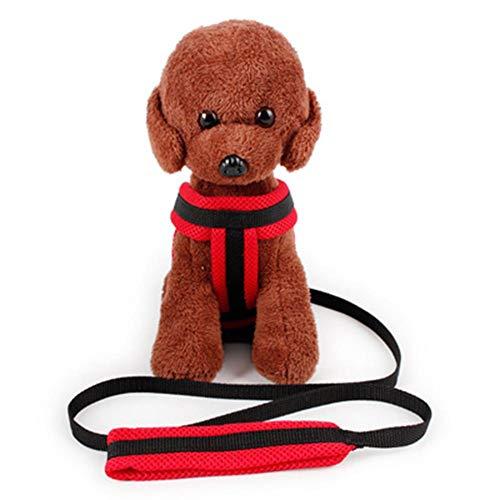 Zachte Hond Borst Leash Sandwich Mesh Ademend Vest Stijl Traction Touw Huisdier benodigdheden voor Wandelende Hond, M, A