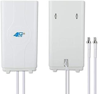Diyeeni 4G LTE TS9 CRC9 SMA 88DBi 800MHz a 2600MHz Antena de Panel de Alta Ganancia, Doble Antena de Mimo con Cable de 2x2...