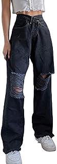 Jeans da donna con jeans casual strappati da donna Jeans in difficoltà elasticizzati con jeans