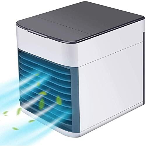 YANRU Aire Acondicionado Mini, Compacto Y PortáTil Climatizador Enfriador - Utilice Solo Agua Limpia Evaporativo Portatil - para El Dormitorio De La Oficina De Viajes En Casa
