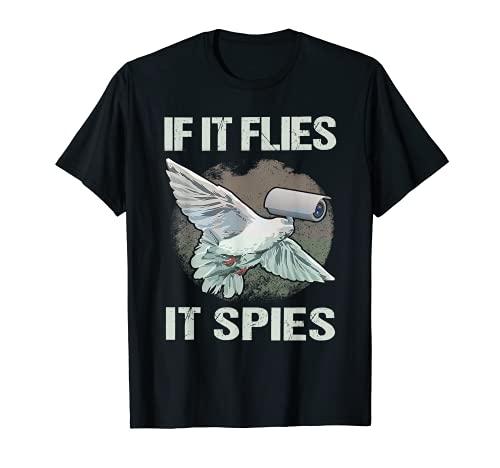 Se si vola Spies cospirazione teoria uccelli non sono reali Maglietta