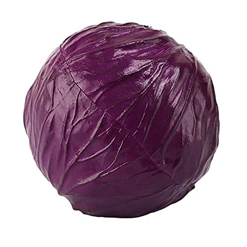 letaowl Frutas Artificiales Simulación Lechuga Modelo Artificial Vegetal Modelo Restaurante Ventana Pantalla Photography (Color : Purple Cabbage)