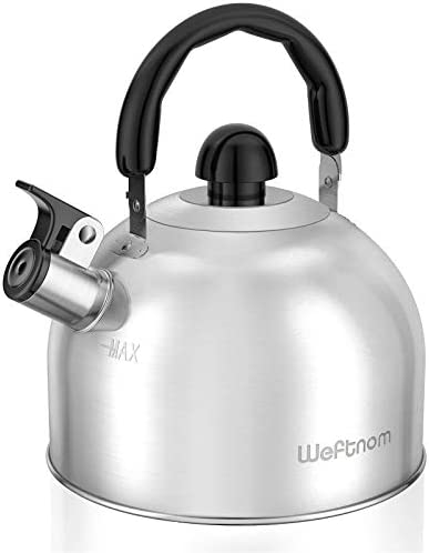 Tea Kettle for Stove Top Sturdy Stainless Steel Whistling Tea Kettle with Ergonomic Handle 2 product image