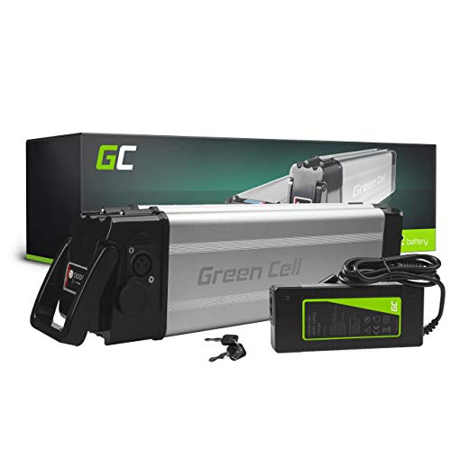 Green Cell GC® E-Bike Akku 24V 12Ah Li-Ion Pedelec Silverfish Batterie mit Ladegerät für Cyco Frisbee Bikes Kreidler MiFa Prophete Rex Trio Zündapp