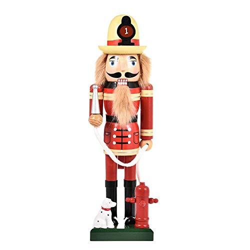 """Hölzerne Nussknacker Soldat Figuren Weihnachtsbaum Ornamente Puppen Figuren Puppen Spielzeug, Weihnachtsdekorationen Home Party Stehtischdekoration (14"""")"""