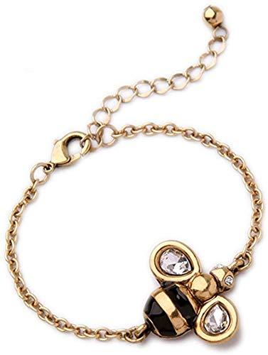N / A Goldkette Insekt Armband-Entwerfer spornte antikes Gold Bronzeton Insekt Schmuck Honeybee Handkette Einfache Klar Kleine Honeybee Anhänger Kettenarmband...