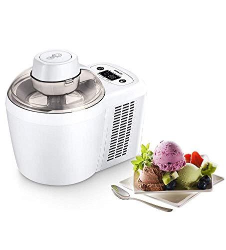 Vollautomatische Thermoelektrische Eismaschine, LCD Display 0.7 Liter 90 Min. Eiscreme Milchshake Smoothies Jelly Maschine für Zuhause Kein Vorfrieren erforderlich
