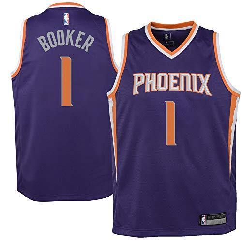 Devin Booker Phoenix Suns #1 Purple Youth Road Swingman Jersey (Medium 10/12)