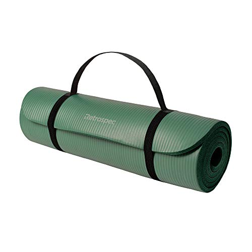 Retrospec Solana Yin Yoga Mat For Travelling Men And Women Thick w/Nylon Strap 1/2 inch