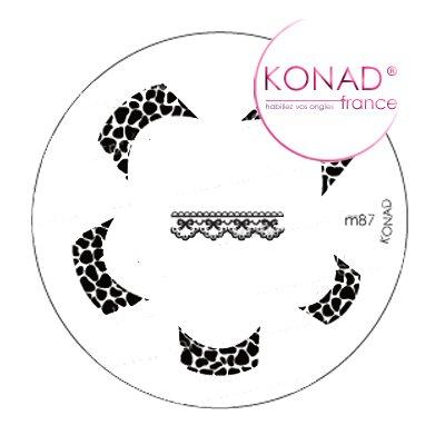 Plaque disque motifs M87 Konad stamping nail art