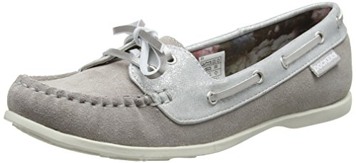 Dockers by Gerli Women's Closed Toe Ballet Flats, Grey 200, 6.5 UK