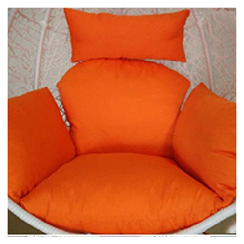 LLNN Home Decoration Swing Chair Cushion Swing Chair Cushion, Thick Nest Single Basket Hanging Egg Hammock Chair Cushions Removable and Washable Hanging Basket Furniture Cushion (Color : Orange)