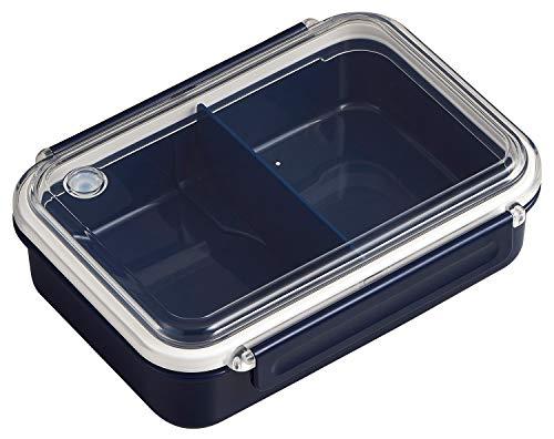 OSK 弁当箱 まるごと 冷凍弁当 ネイビー 650ml タイトボックス レシピ付 (日本製) PCL-3SR