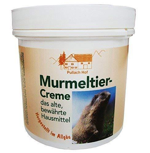 6 x 250ml Murmeltier-Creme vom Pullach Hof Murmeltiercreme hergestellt im Allgäu