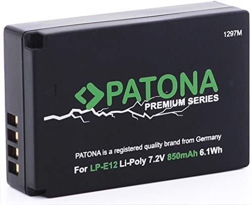 PATONA Premium Ersatz für Akku Canon LP-E12 (850mAh) - EOS 100D M M10 M50 M100 M200 - PowerShot SX70 HS - Infochip Technologie