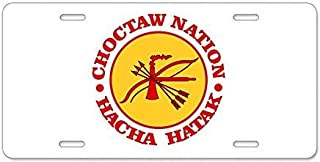 Funny License Plate Frame Choctaw Nation Aluminum License Plate Decorative Front License Plate,Metal License Plate Covers for Women,Vanity Tag,Novelty Gifts, for Dad,Gifts for Mom