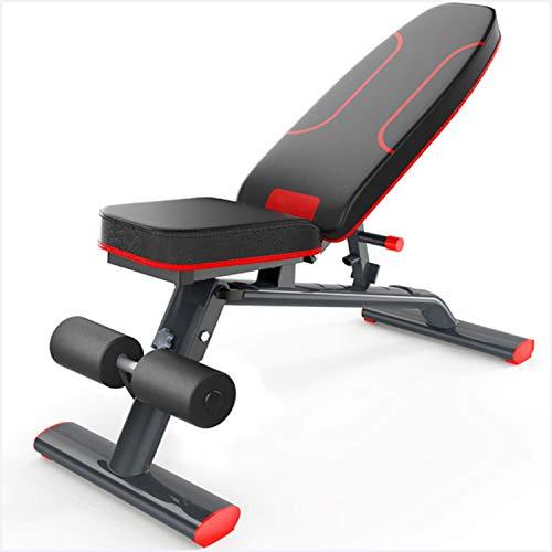 YI\'HUI Hantelbank,Home Sit-up Übung Fitness Chair,kommerzielle Hantelbank, Bauchmuskeltrainer, Maximale Tragfähigkeit 300 Kg