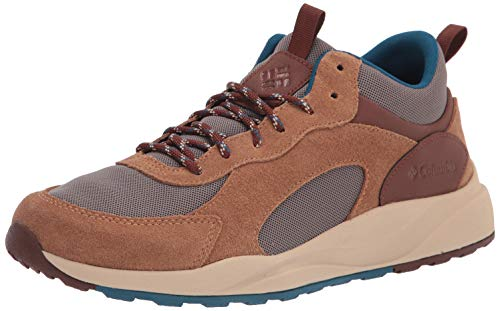 Columbia Men's Pivot Mid Waterproof Hiking Shoe, Wet Sand/Phoenix Blue, 11