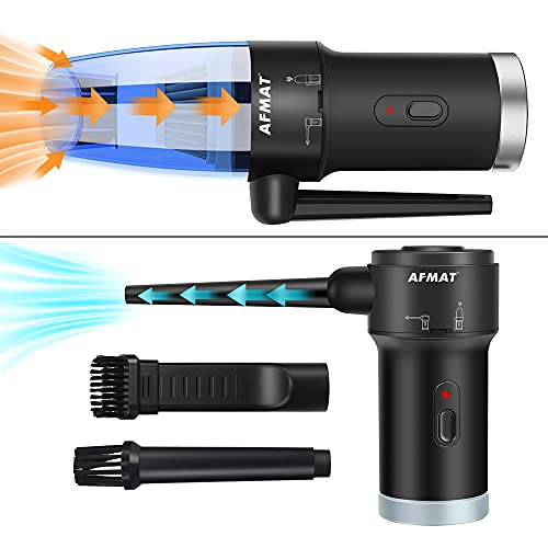 AFMAT Cordless Air Duster & Vacuum Cleaner 2-in-1, Handheld Electric Air Blower, Bye to Compressed...
