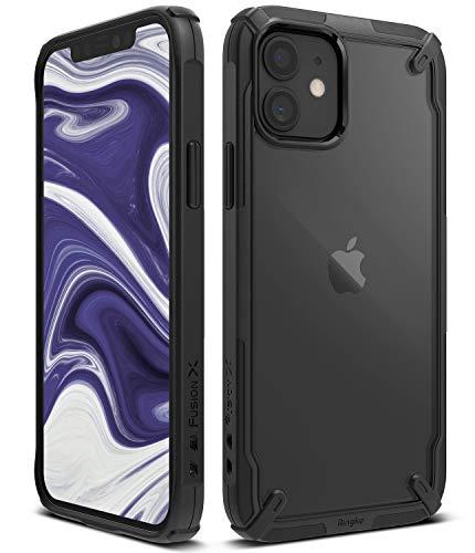【Ringke】iPhone 12 mini ケース 5.4インチ MagSafe 対応 ストラップホール アーマー ケース [米軍MIL規格取得] クリア 透明 落下防止 スマホケース カバー Qi 充電 アイフォン12 ケース アイフォン12ミニケース iPhone12 mini 2020 Fusion-X ケース (Black ブラック)