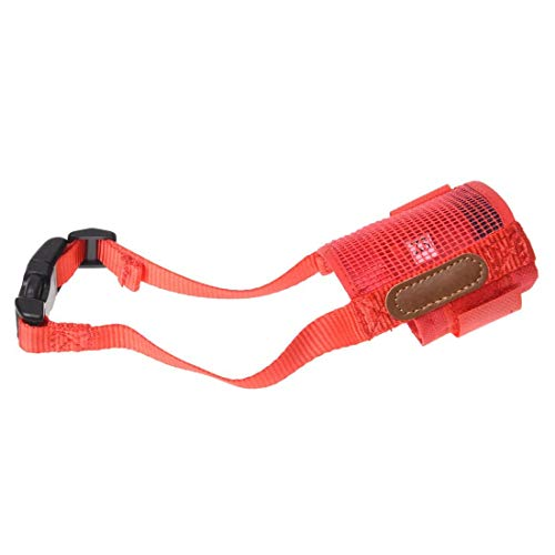 TOOGOO(R)Haustier Anti-Beissen Rot Netz Maulkorb Maske Groesse XS