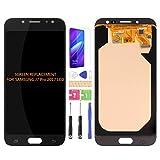 Para Samsung Galaxy J7 Pro 2017 J730 J730F/DS J730G/DS J730GM/DS Pantalla LCD Digitalizador Kit de montaje de vidrio, película templada, pegamento y herramientas (negro)