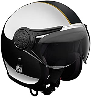Royal Enfield Chrome Black Open Face with Visor Helmet Size (L)60 CM (RRGHEI000017)