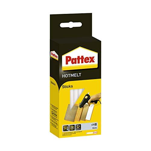 Pattex Hotmelt Sticks, Klebesticks für die Heißklebepistole mit extrem hoher Transparenz, Heißkleber Sticks zum Basteln, Dekorieren und Reparieren, 1x25 Sticks