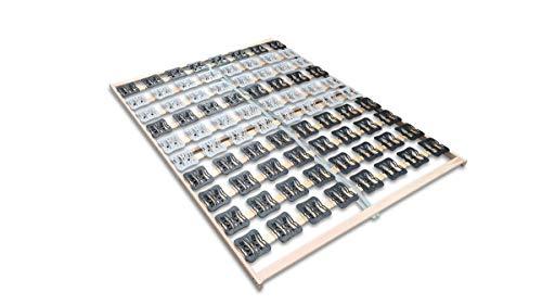 Coemo 5 Zonen Tellerlattenrost Lattenrost mit Federleisten und Teller-Elementen 140 x 200 cm