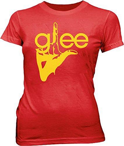 Glee - Camiseta - para mujer Rojo rosso L