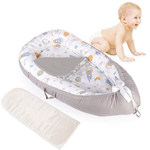 Mingfuxin Cápsula nido para bebé, súper suave y transpirable, cama biónica desmontable con 2 colchones reemplazables (espacio)