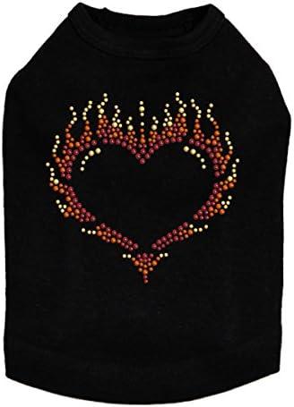Flame Heart OFFicial store quality assurance - Dog Black Shirt M