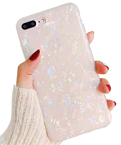 Hishiny iPhone 8 Plus Hülle, iPhone 7 Plus Handyhülle, Soft Silikon Ultra Dünn Hülle Cover Kratzfest Schutzschale TPU Schutzhülle Backcover für iPhone 7 Plus/8 Plus, Nacktes Rosa