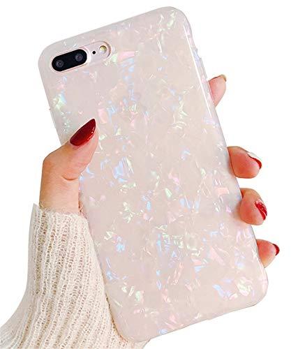 Hishiny iPhone 8 Plus Hülle, iPhone 7 Plus Handyhülle, Soft Silikon Ultra Dünn Case Cover Kratzfest Schutzschale TPU Schutzhülle Backcover für iPhone 7 Plus/8 Plus, Nacktes Rosa