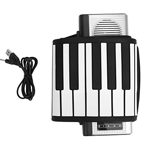 Roll Up Folding Keyboard Piano, tragbares 61-Tasten-Klavier aus weichem Silikon für Kinder und Erwachsene