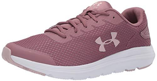 Under Armour Surge 2 Zapatillas de correr para mujer, (Hushed Pink (601)/Blanco), 35 EU