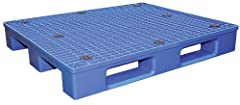 Made of high-density virgin polyethylene for long life Four-way entry offers convenient all side entrance, 2-way by pallet truck and 4-way by a fork truck Anti-slide grommets prevent pallets from sliding off the forks Innovative design offers the ess...
