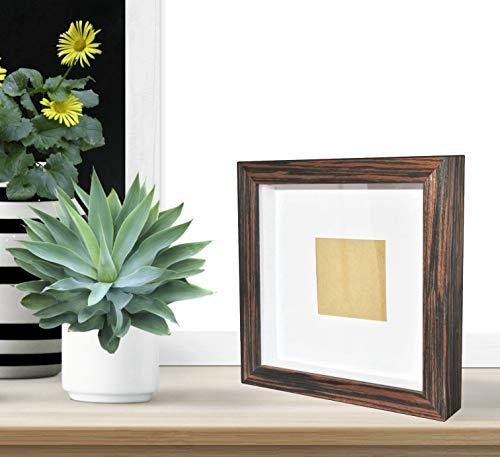 \'Demiriola\' tiefer 3D BILDERRAHMEN | FÜR 3D-Rahmen Fans | 5 Farben | 29x29x4,6Cm | Holz/Glas | Objektbilderrahmen zum befüllen | Garantie | für Objekte