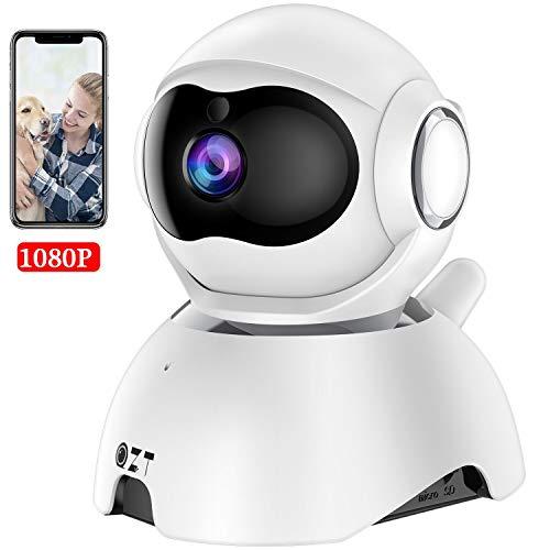 QZT FHD 1080P Telecamera Sorveglianza WiFi Interno, Videocamera IP Senza Fili, Baby Monitor, con Visione Notturna, Audio Bidirezionale, Motion Detection, Monitoraggio AI, Notifiche in tempo reale