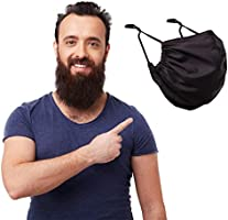 MASHELE Summer Face and Beard Grey Headwear Protection Reusable Cloth Covering for Dust Outdoors