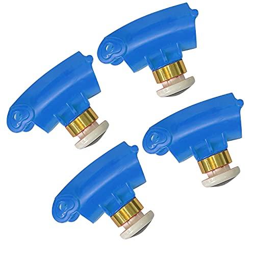 KUWAN Nodos de repuesto para Smart Fitness, 4 unidades, para un contorno de cintura de más de 132 cm (azul)