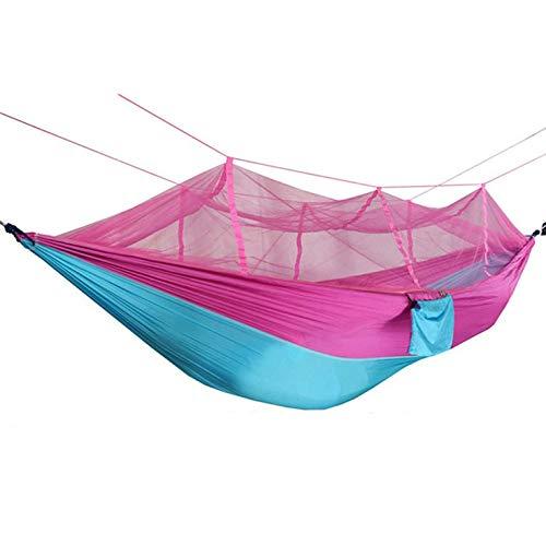 #N/V Hamaca de tela de paracaídas doble para interiores y exteriores, cómoda y duradera para acampar