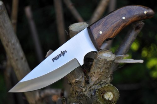 Perkin Handmade Bushcraft Hunting Knife - Full Tang Hunting Knife with Sheath