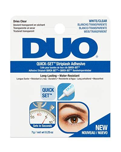 Ardell Duo Wimpernkleber Lash Adhesive, perfekter halt für künstliche Wimpern, das Original aus der Tube für perfekte Lashes, (7g, Clear/Transparent)